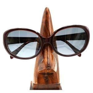 Oliver Peoples Burgundy Oversized Oval Sunglasses